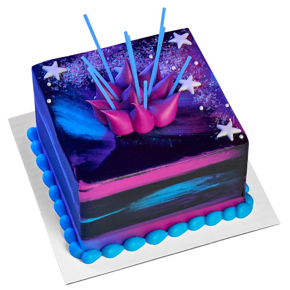 Celestial Square Cake