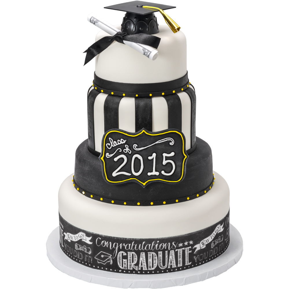 Chalkboard Graduation Stacked Cake Design