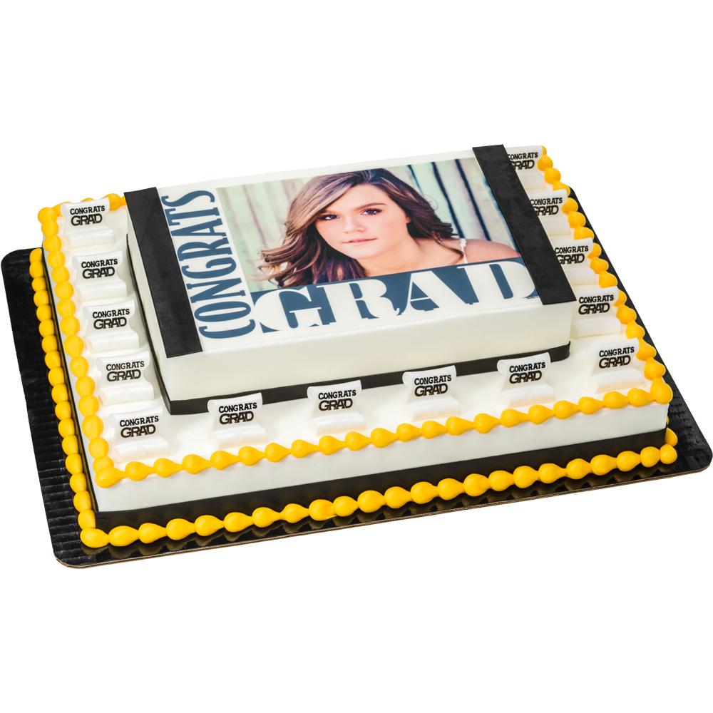 congrats grad photocake frame cake decopac
