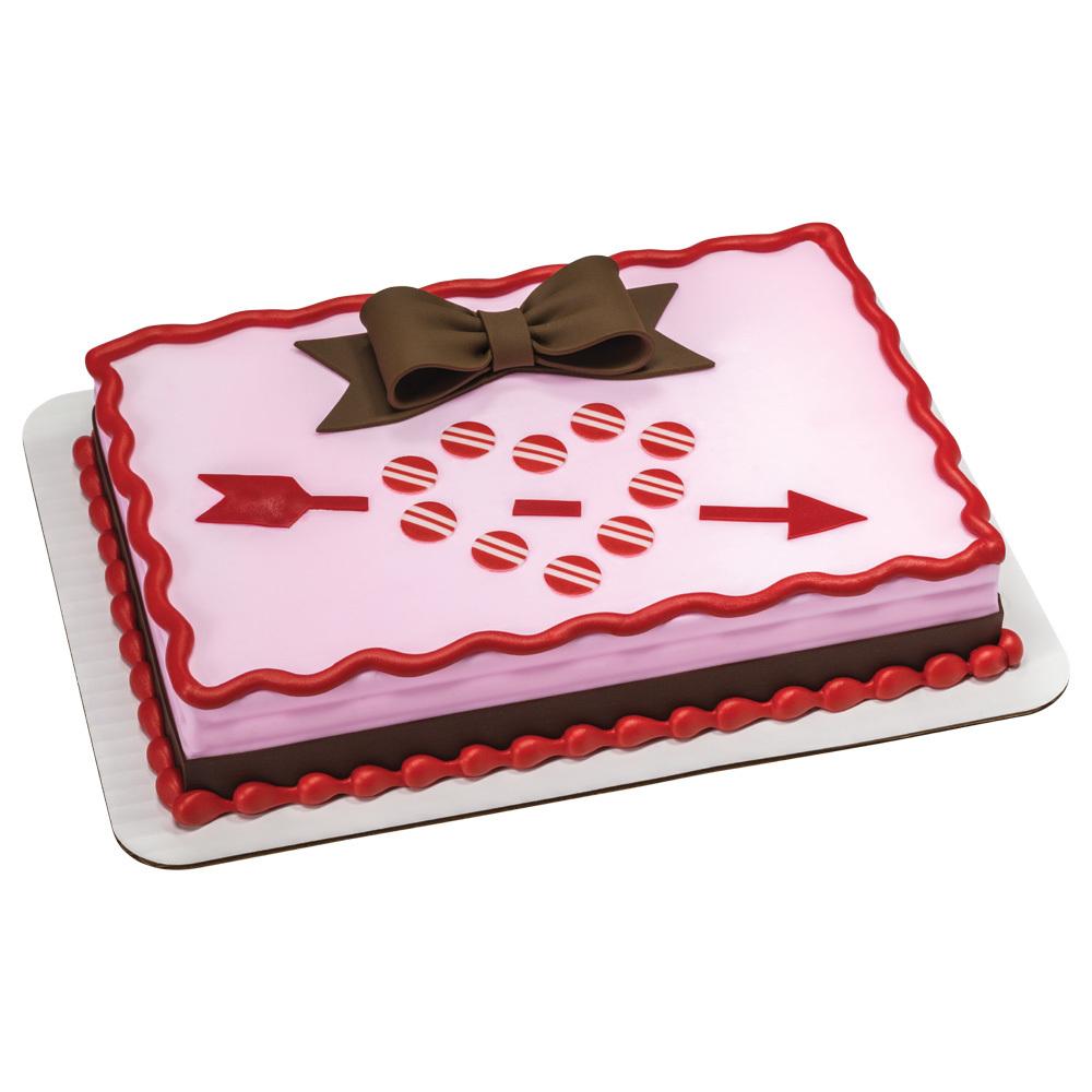 Cupid's Fondant Arrow 1/4 Sheet Cake