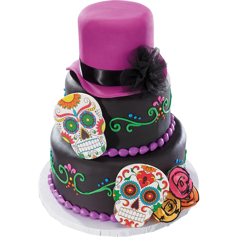 Skull Birthday Cake Decorations