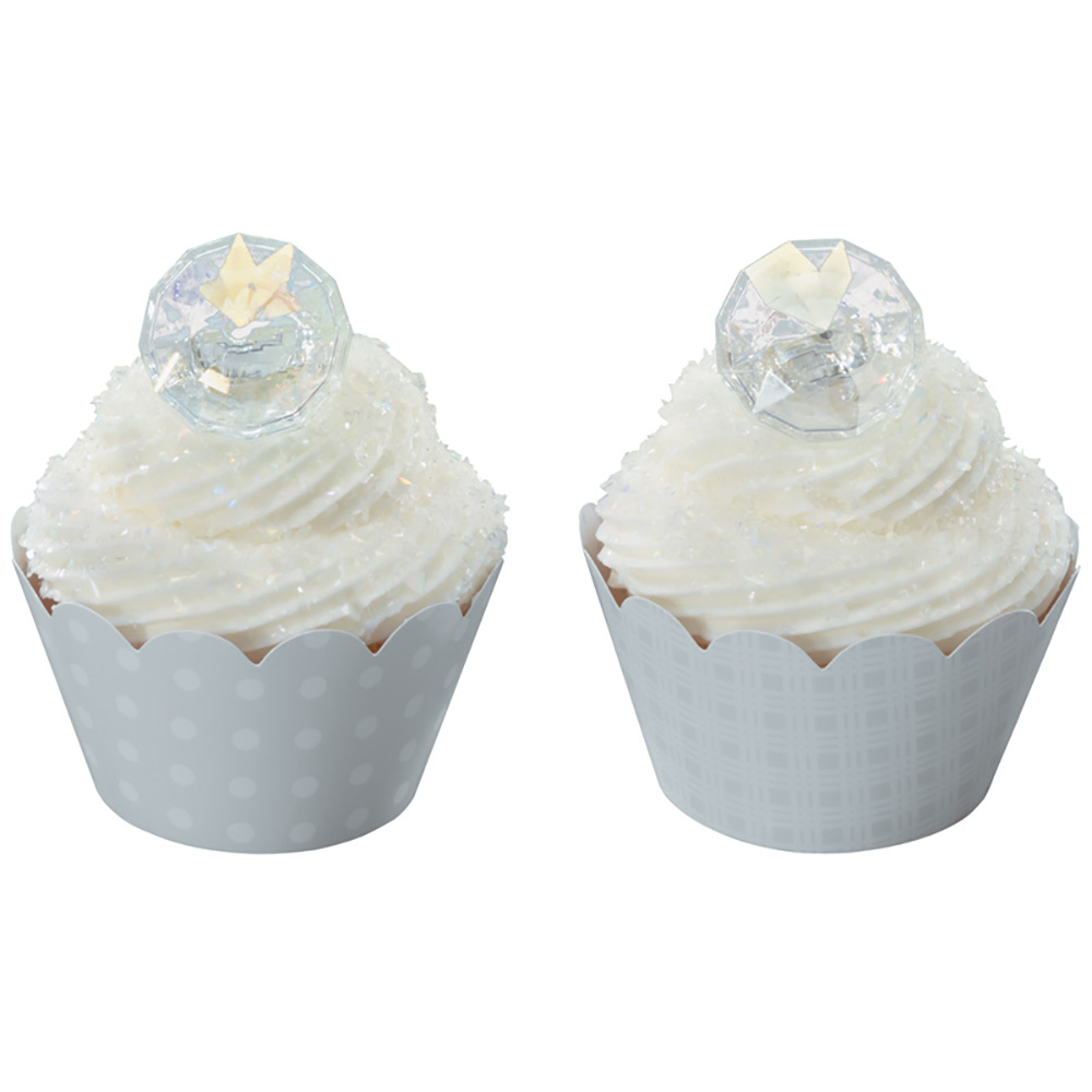 Diamond Wedding Ring Cupcakes