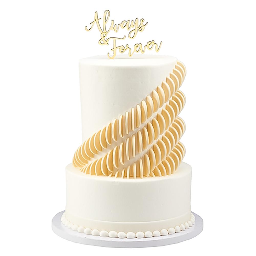 Dimensional Love Wedding Cake Design