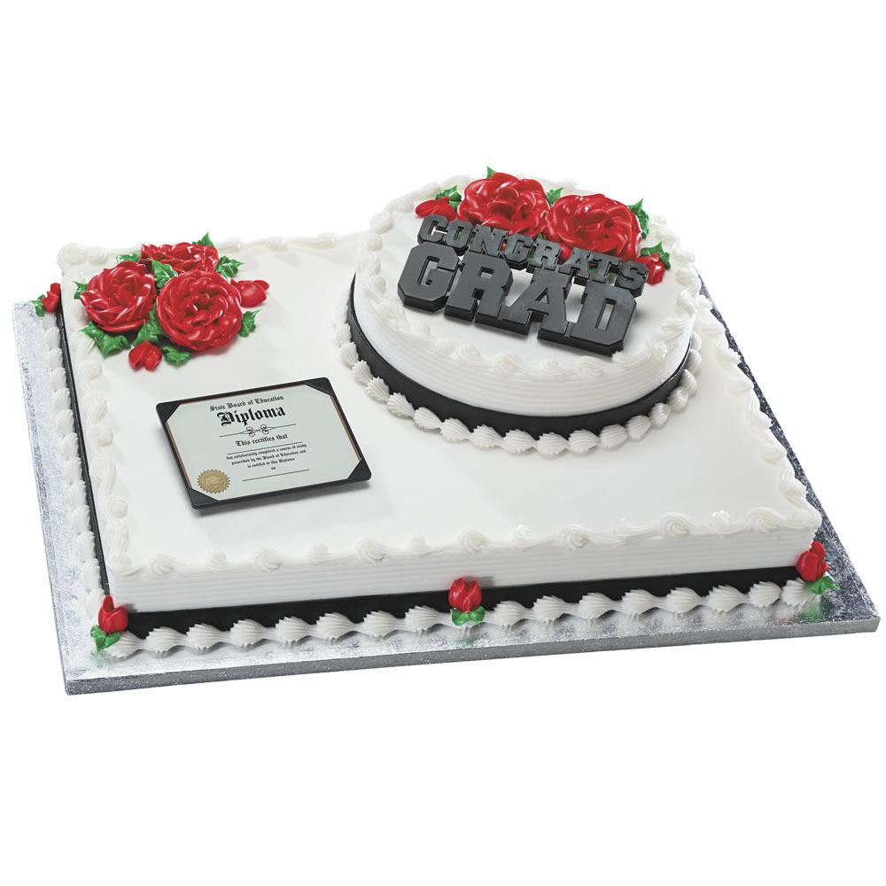 Diploma and Congrats Grad Stacked Cake Design