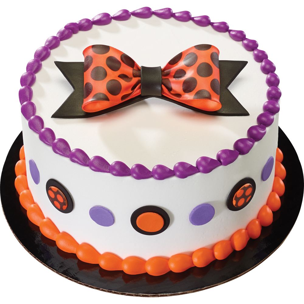 Dots and Bows Gum Paste Halloween Cake Design