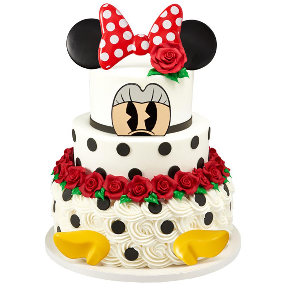 Dotted Minnie Wedding Cake Design