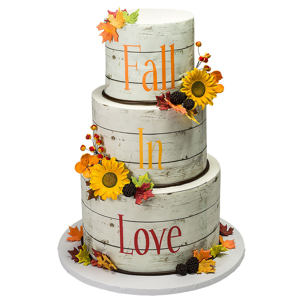 Falling in Love PhotoCake® Wedding Cake