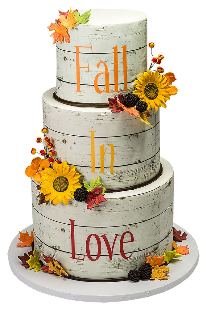 Fall In Love Wedding Cake Decorations
