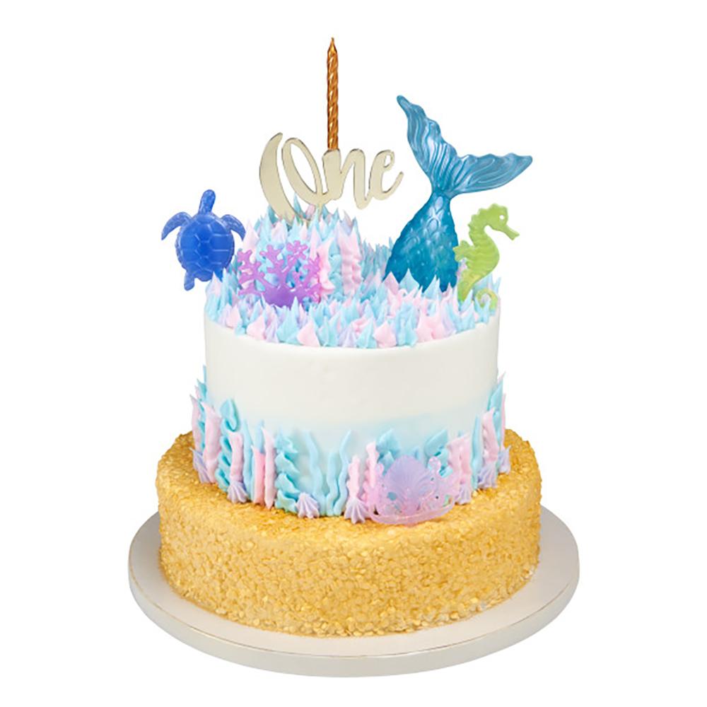 First Birthday Mermaid Cake Design