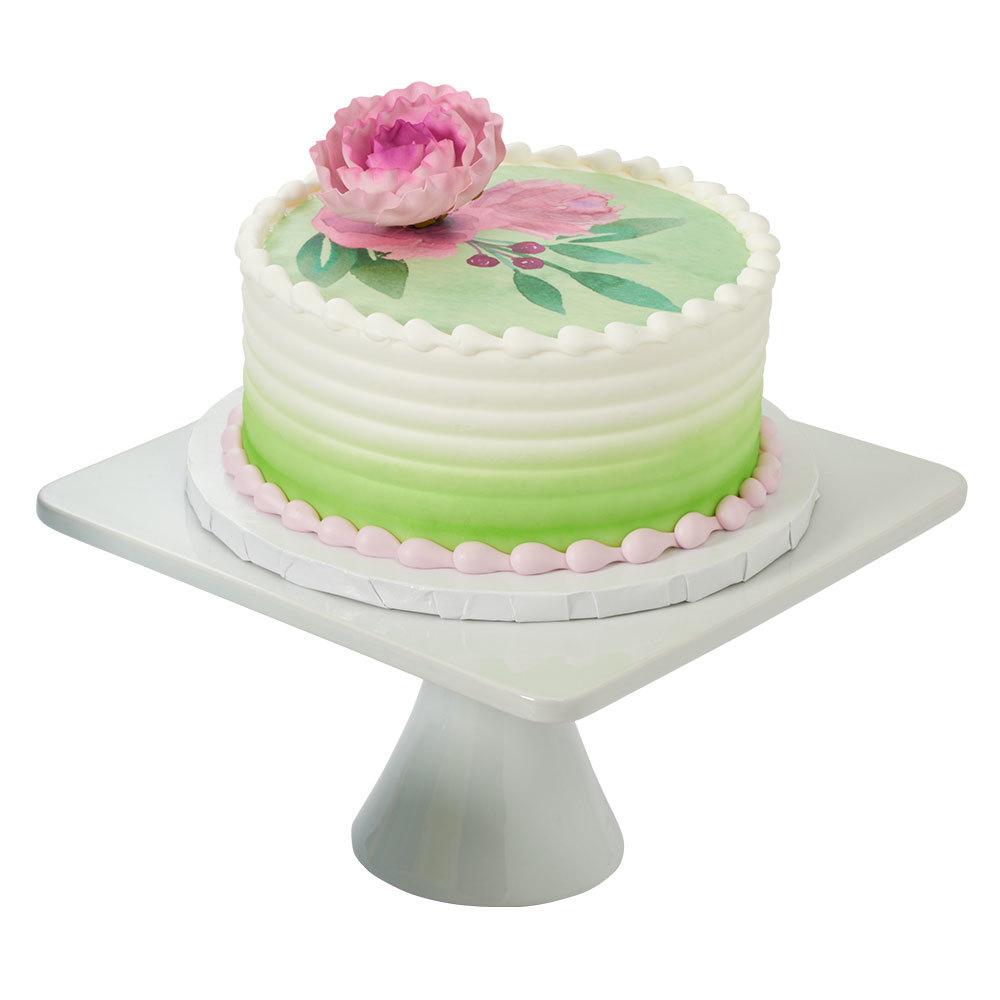 Floral Arranging Round Cake Design