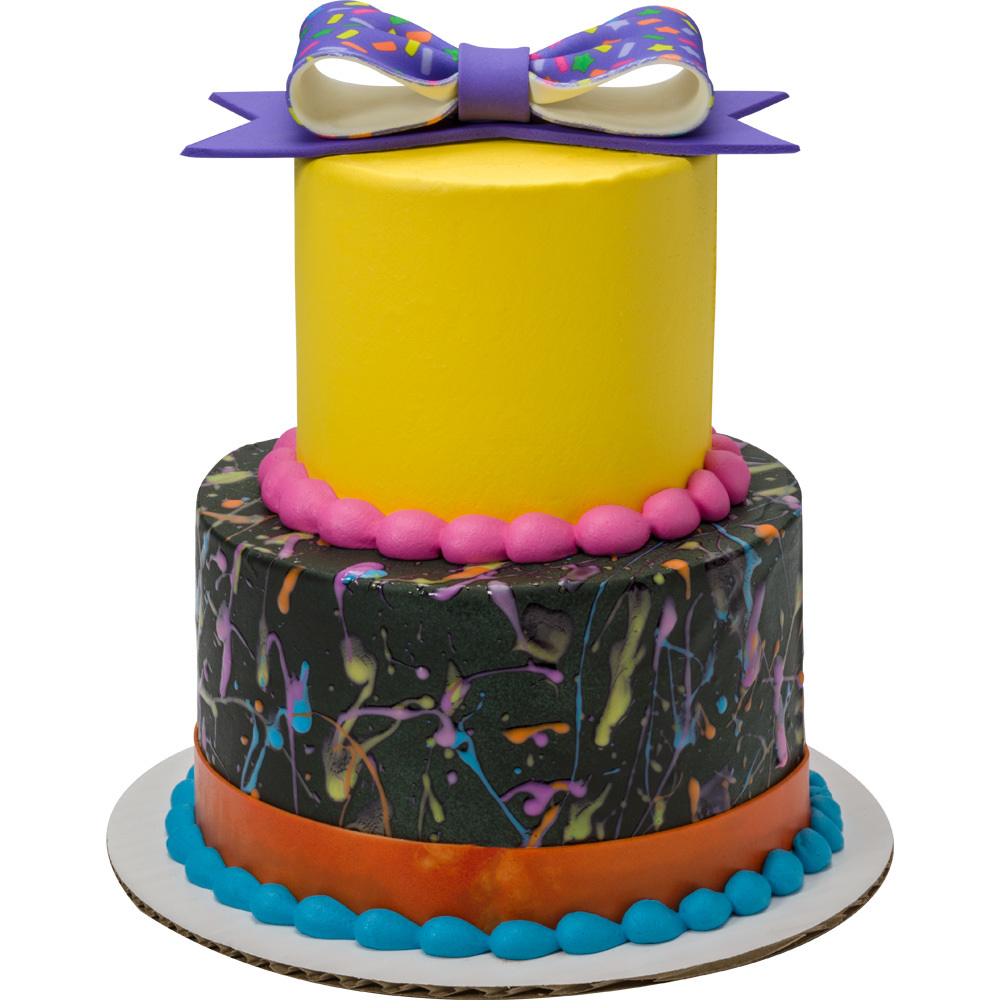 Fluorescent Glow Round Stacked Cake
