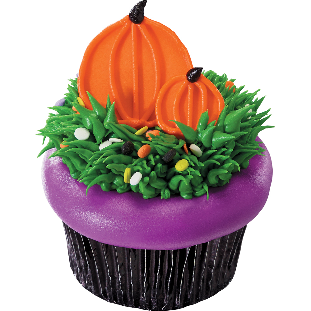 Fondant Dots Pumpkin Cupcake