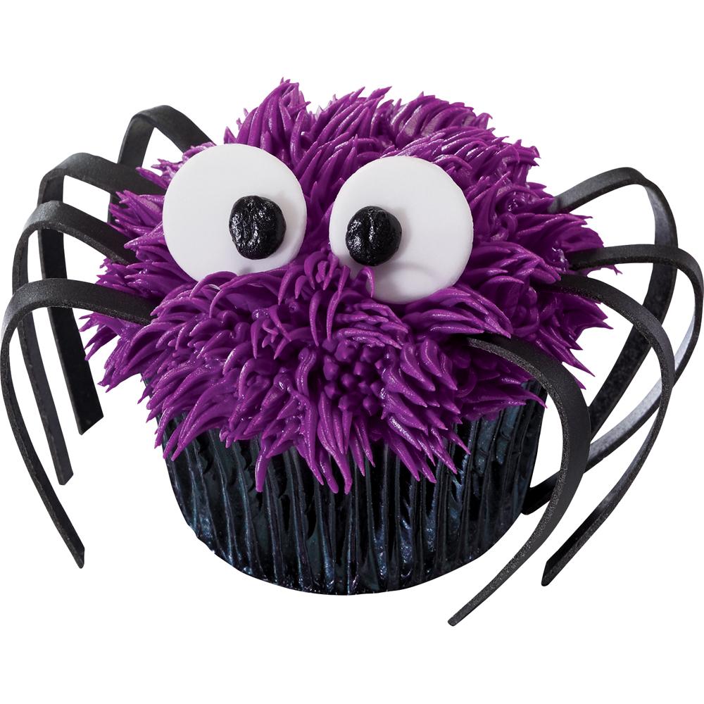 Fondant Dots Spider Cupcake Decorations