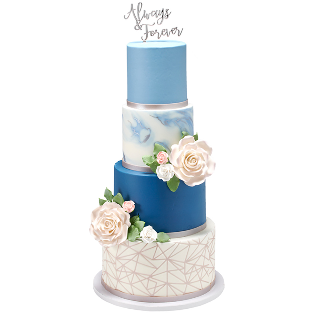 Forever Chic Wedding Cake Design
