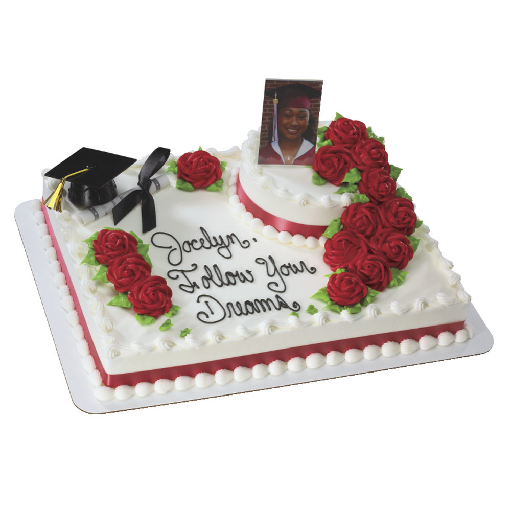 Graduation Cap with Tassel DecoSet®  and Photo Frame Layon Stacked Cake Design