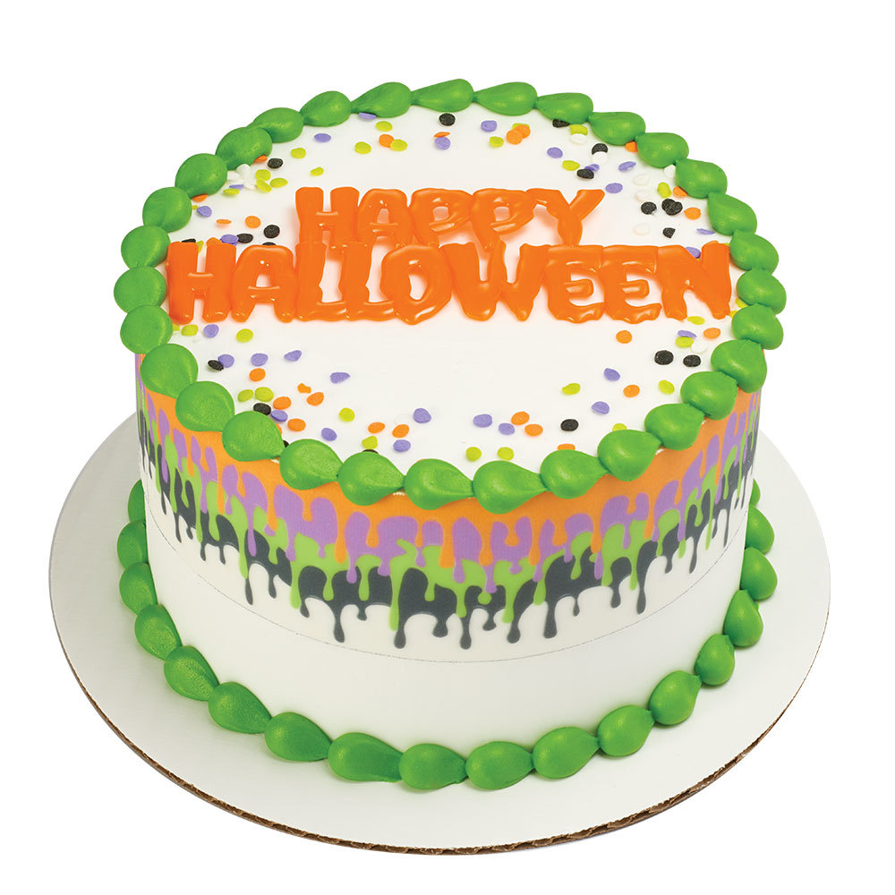 Happy Halloween Drip Cake Design