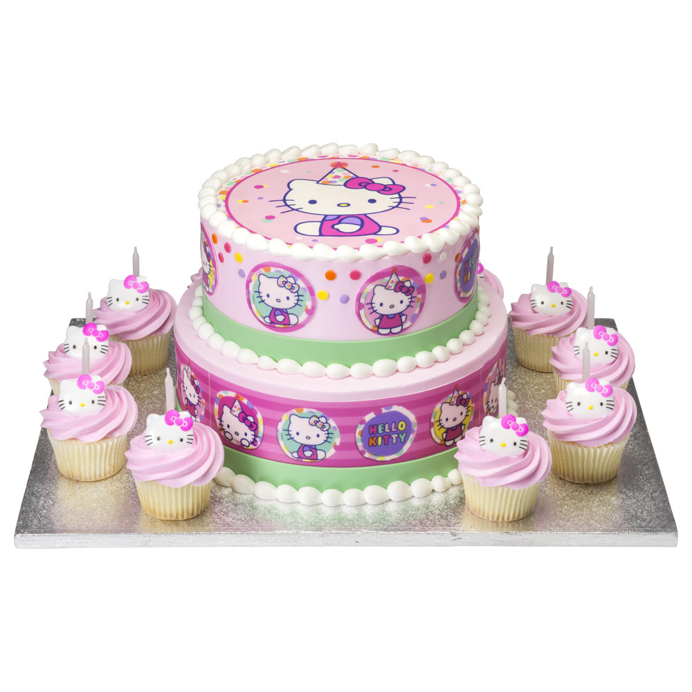 Hello Kitty Photocake Cake And Cupcakes Decopac