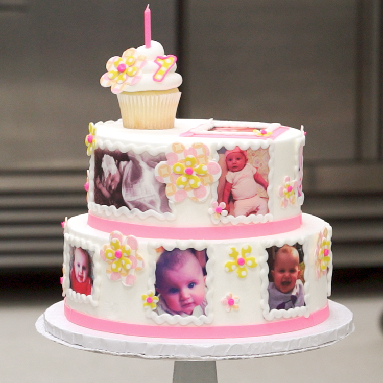 Admirable How To Create A Photocake 1St Birthday Cake Decopac Funny Birthday Cards Online Sheoxdamsfinfo