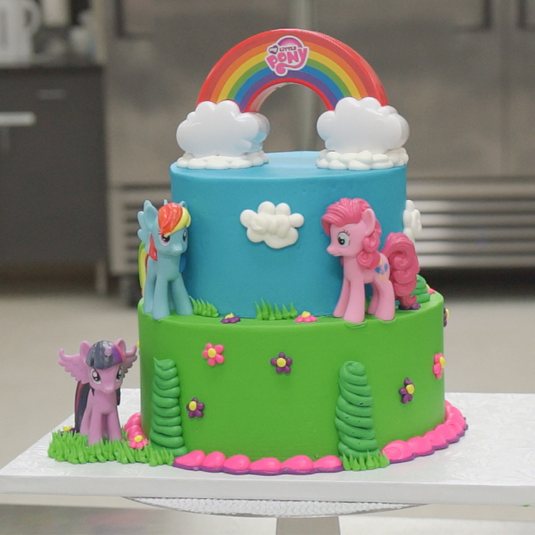 How to Make a Cake with the My Little Pony Rainbow ...