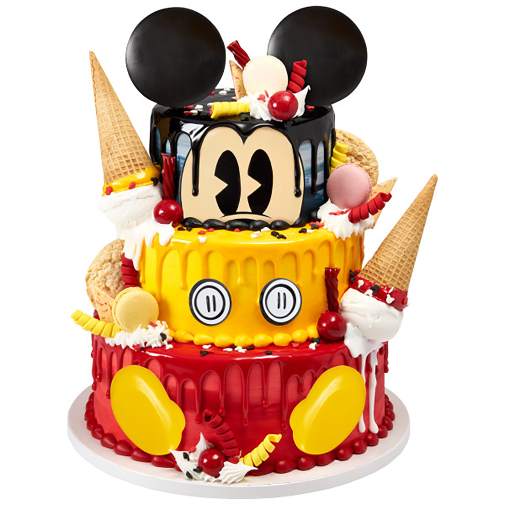 Melting Mickey Cake Design