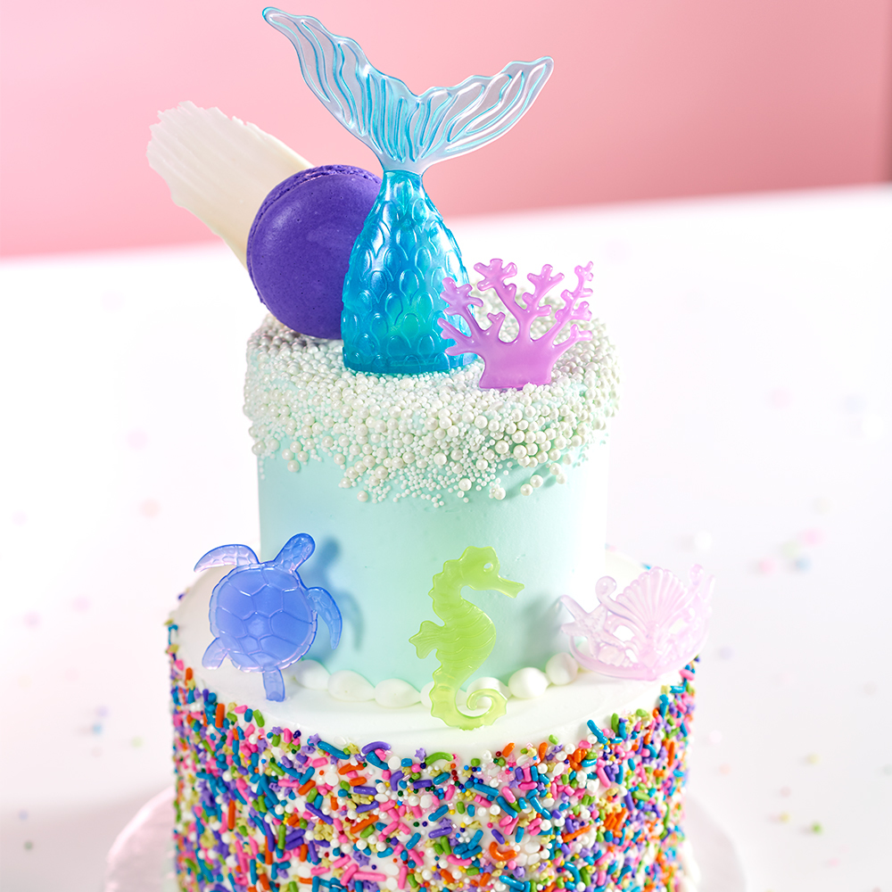 Mermaid Stacked Cake Design for Cake Decorators