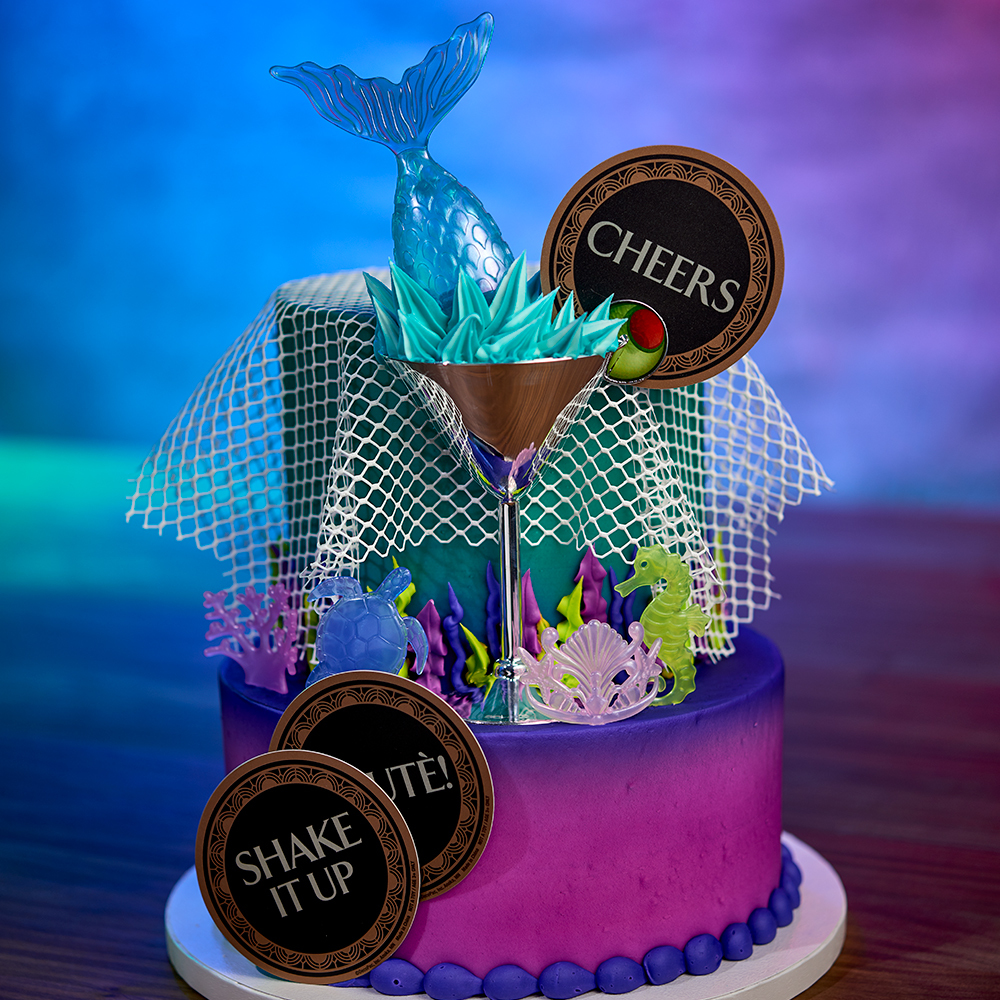 Mermaids Night Out Cake Design for Cake Decorations