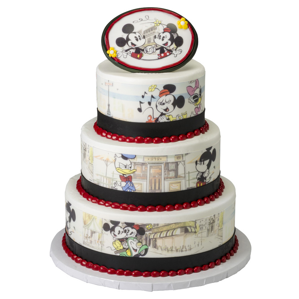 Mickey & Friends Vintage Stacked Cake Design