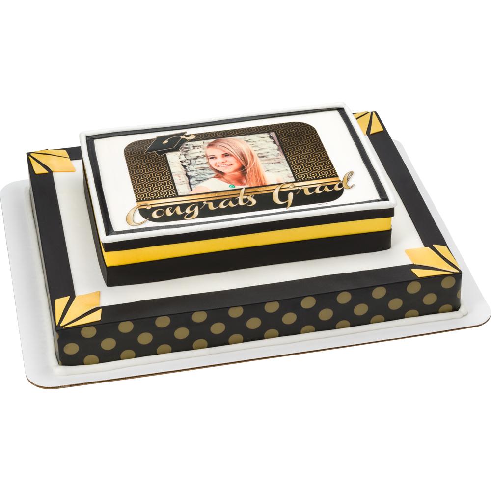 Modern Gatsby PhotoCake® Frame Graduation Cake Design