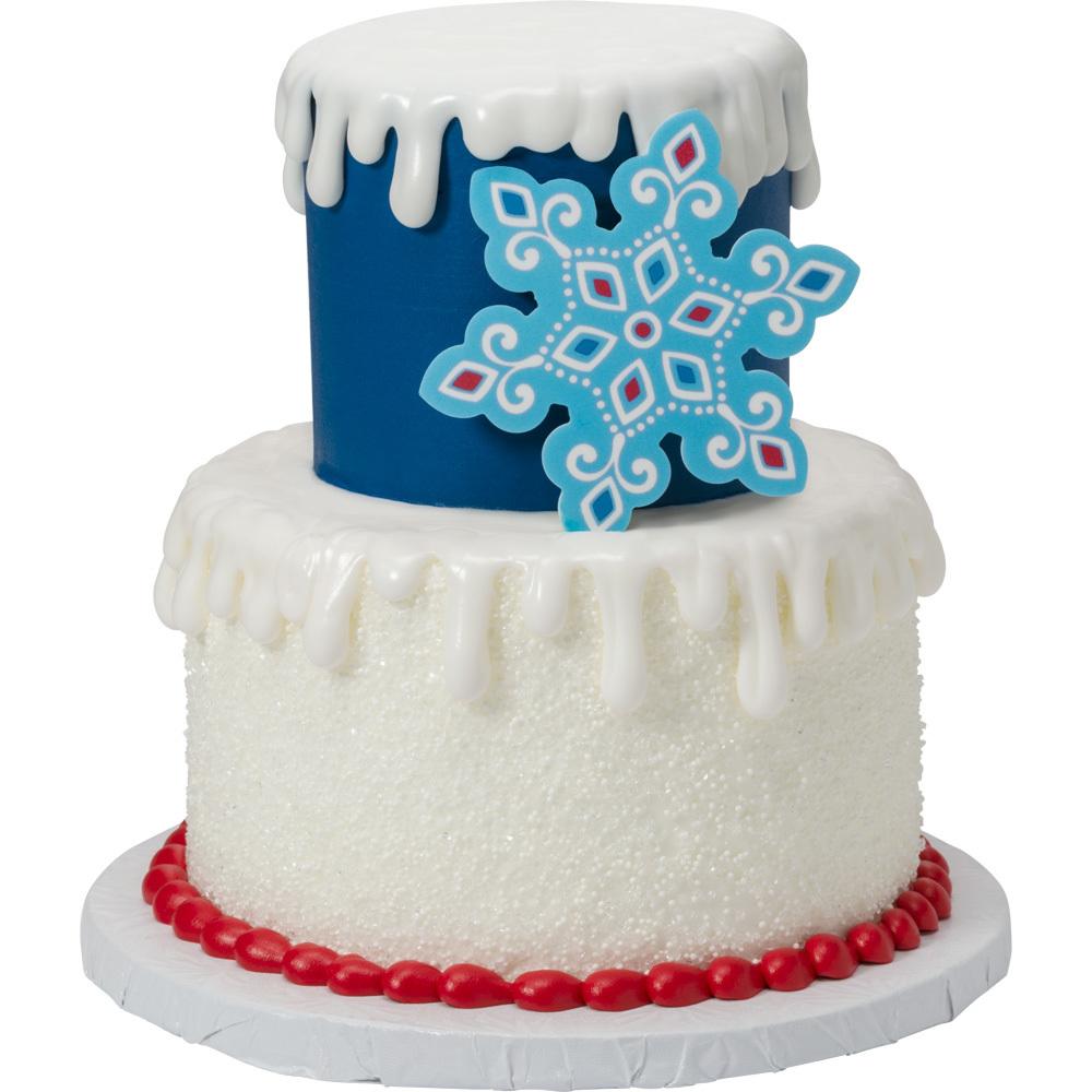 Modern Snowflake Cake Design