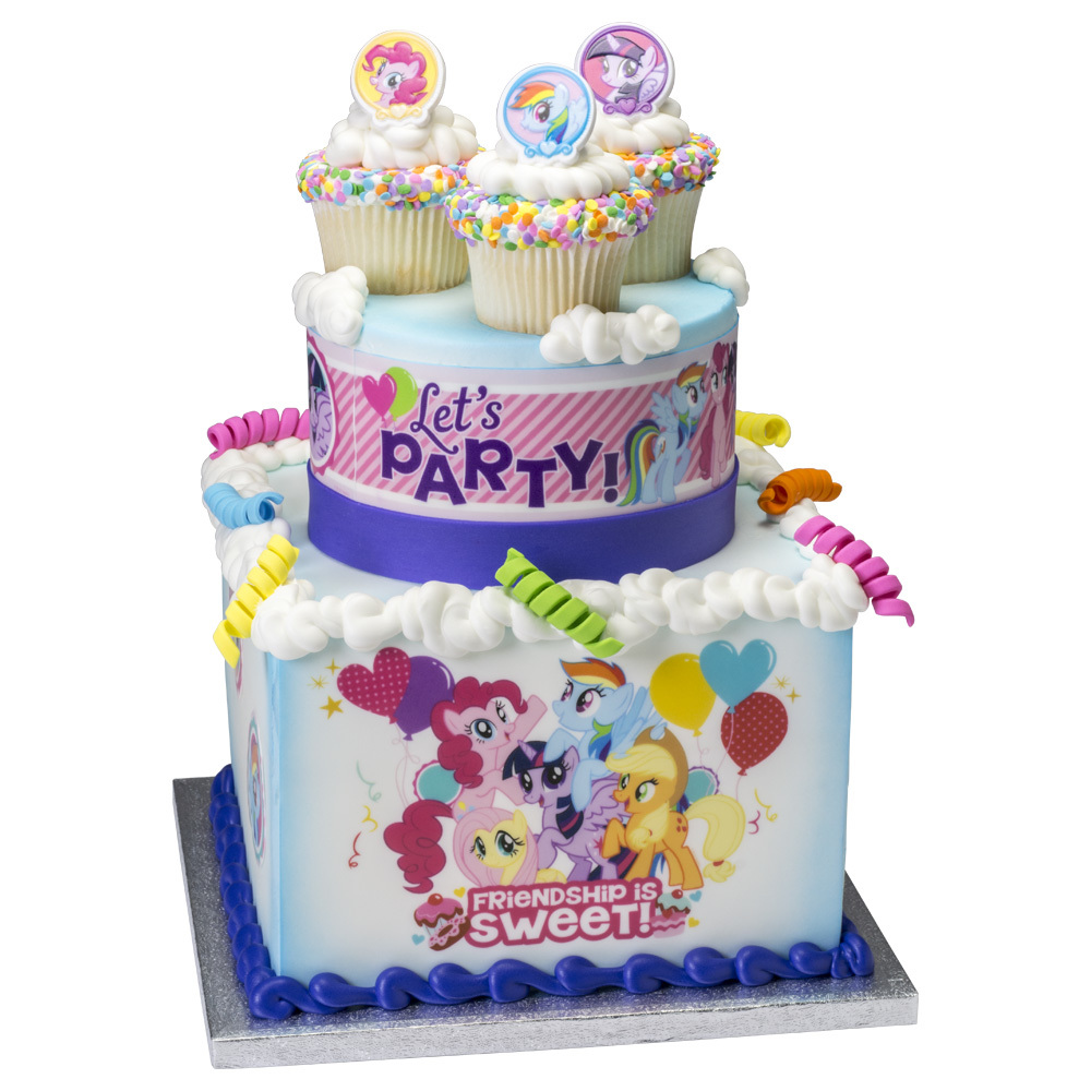 My Little Pony Sweet Friendship Stacked Cake Design