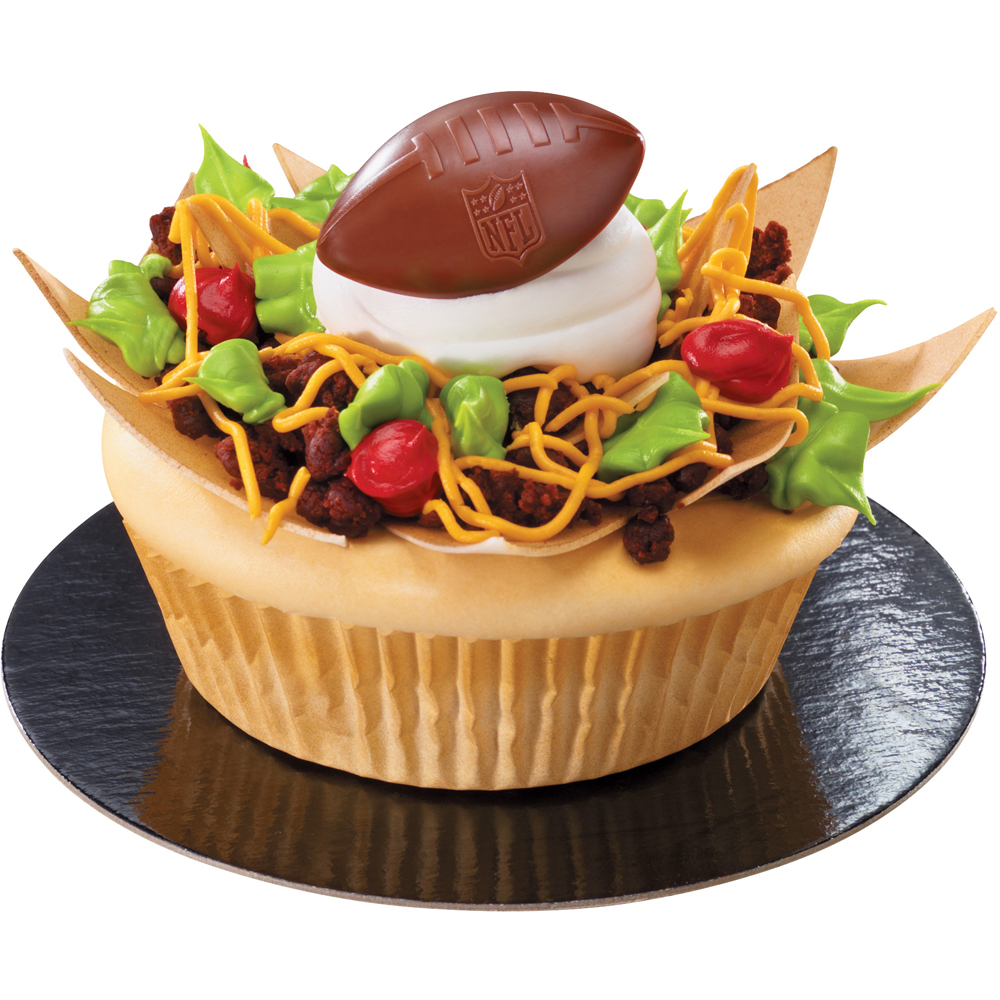 NFL Nachos Colossal Cupcake