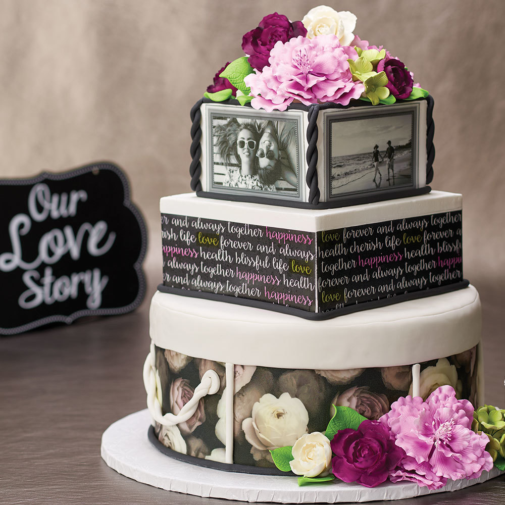 Our Love Story Wedding Cake Decopac