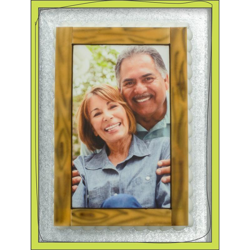PhotoCake® Anniversary Couple 1/4 Sheet Cake Design