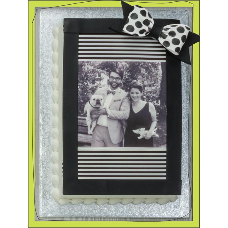 PhotoCake® Dapper Couple Square Cake