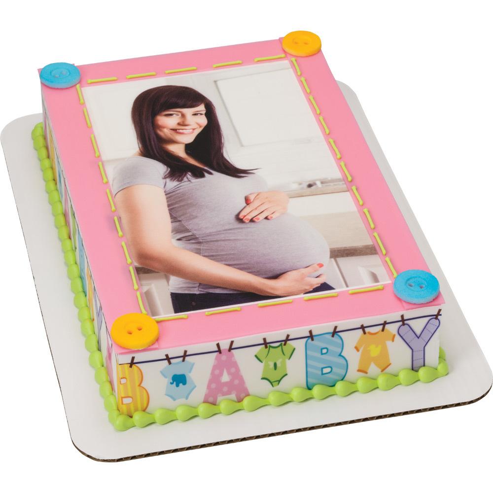 PhotoCake® Expecting Baby Cake Design
