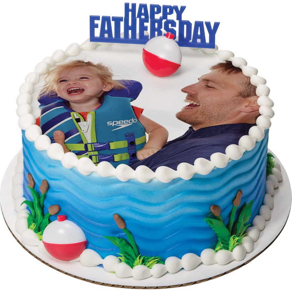 PhotoCake® Father's Day Round Cake Design