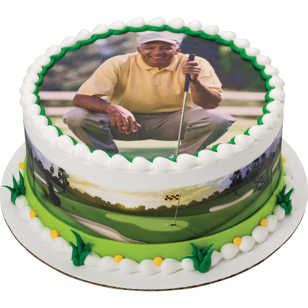PhotoCake® Golfing Dad Cake Design