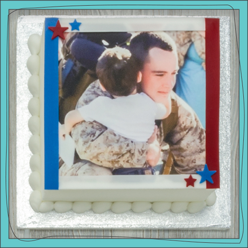 PhotoCake® Hero Square Cake Design