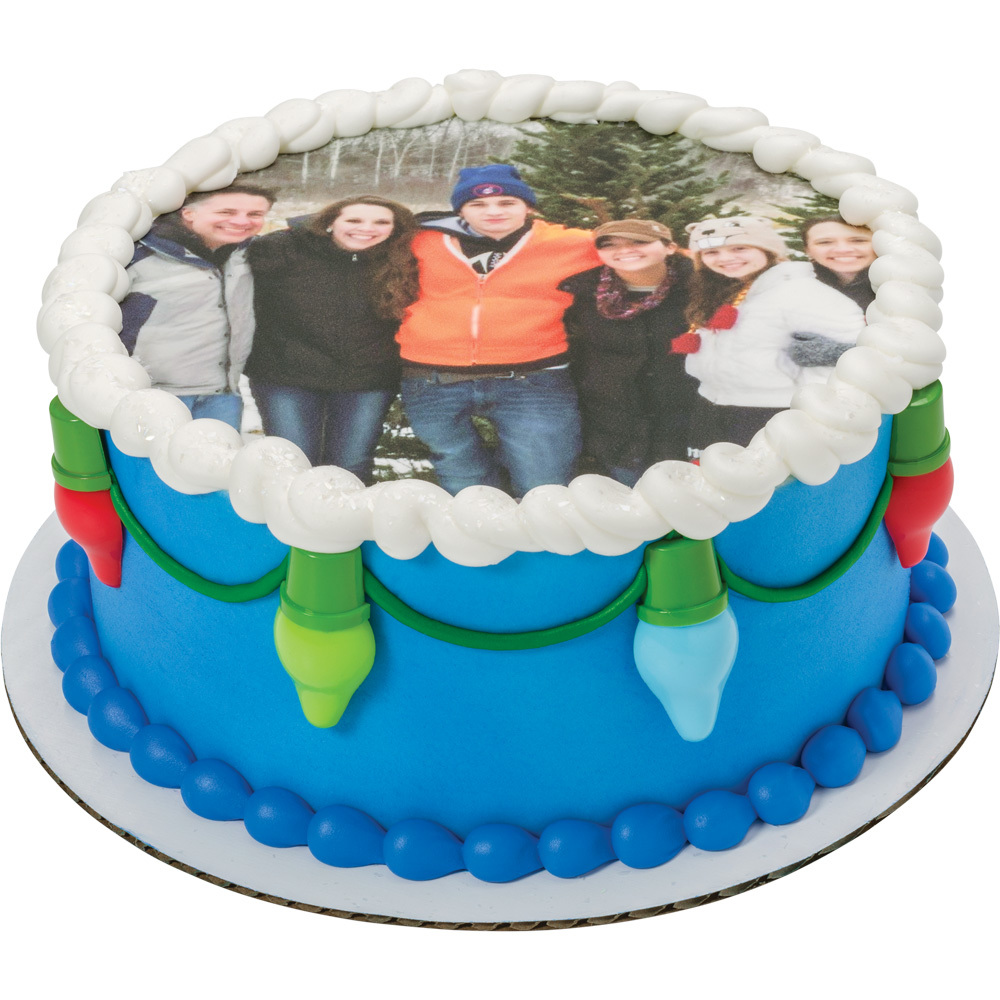 PhotoCake® Holiday Round Idea Cake