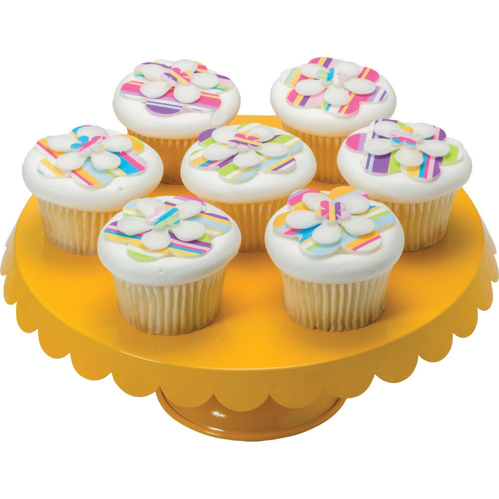 PhotoCake® Layered Flower Cupcake Decorations Design Idea