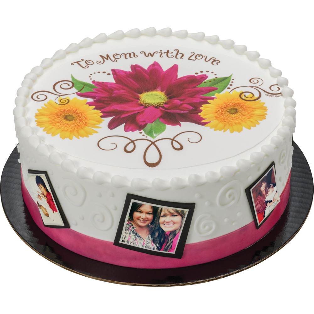 PhotoCake® Mom with Love Round Cake