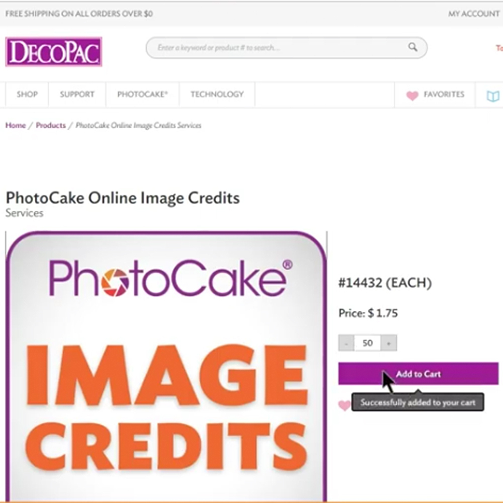 PhotoCake® ONLINE: Image Credits and Quick Links