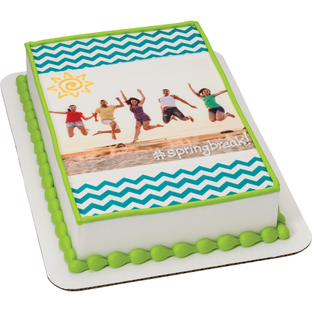 PhotoCake® Spring Break Beach Cake