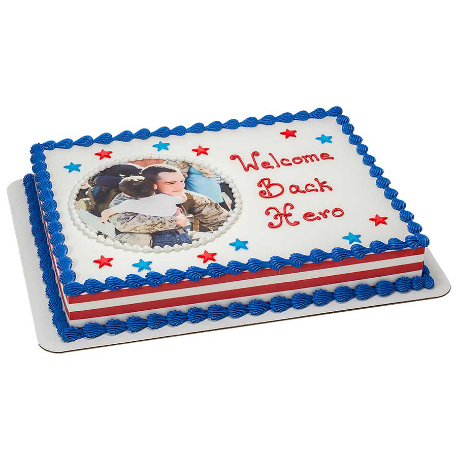 PhotoCake® Welcome Home Hero Cake Design