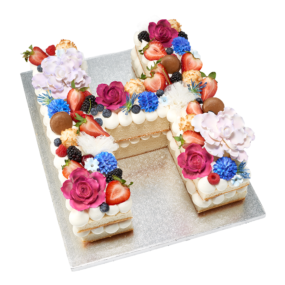 Picture Perfect Monogram Cake Design