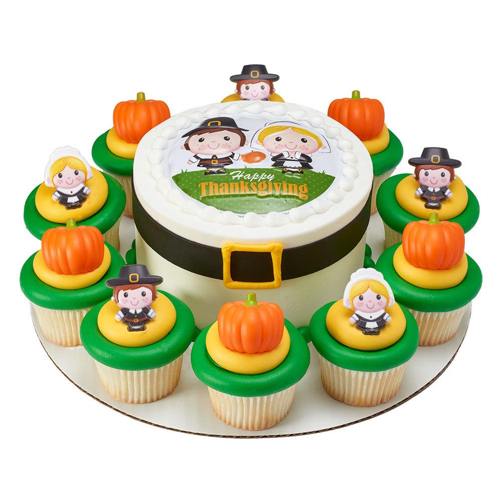 Pilgrim Round Cake & Cupcakes