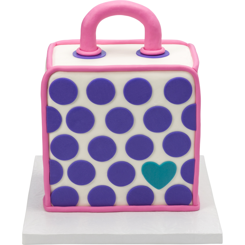 Polka Dot Purse Cake Design