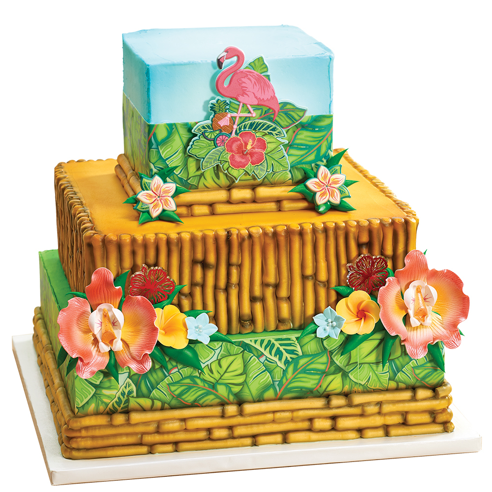 Polynesian Stacked Cake Design