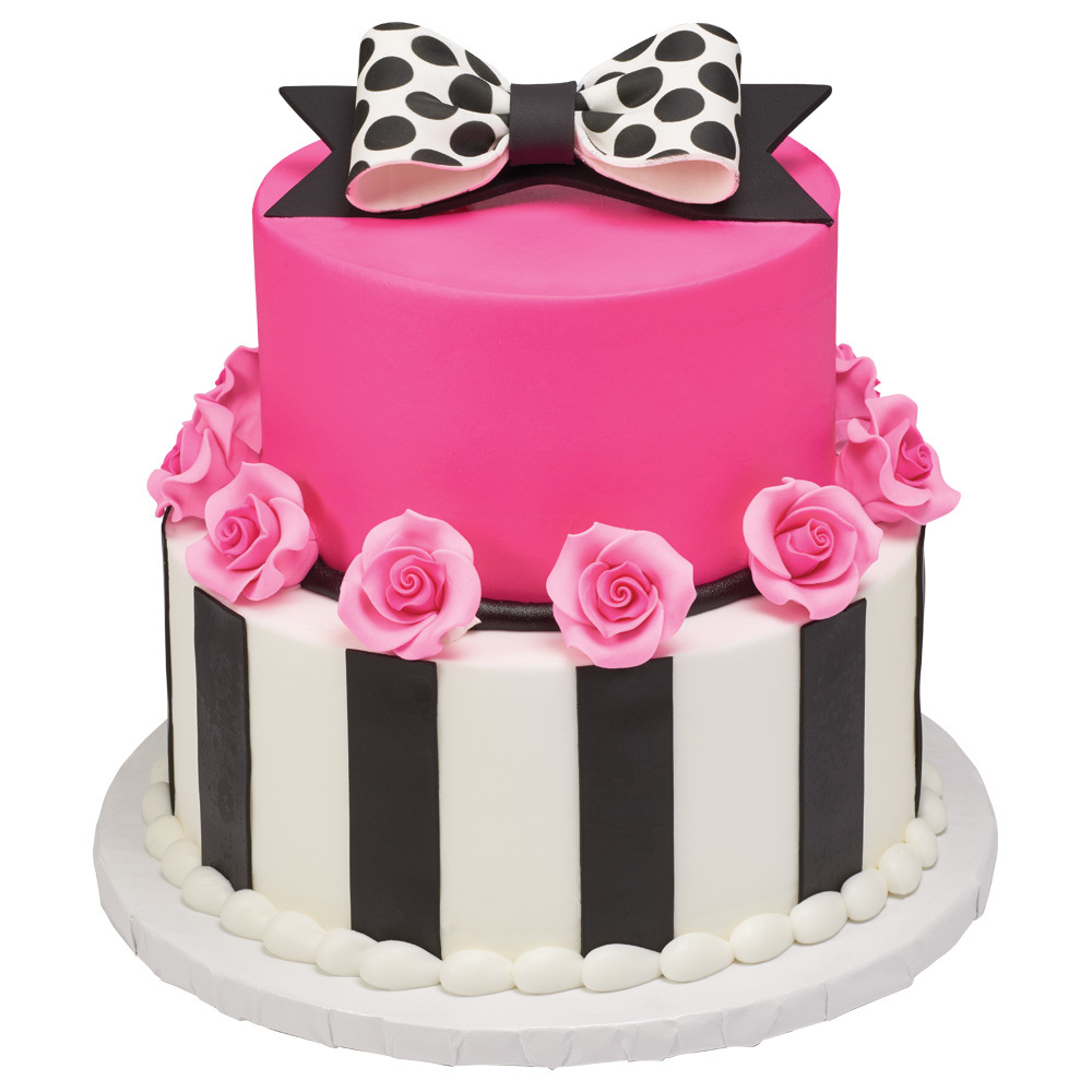 Pretty in Pink Stacked Cake