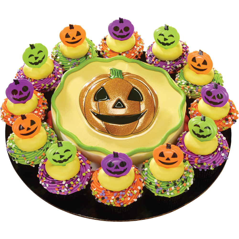 Pumpkin & Friends DecoPlac and Rings Cake with Cupcakes